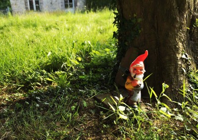 Nain de jardin de Thierry qui attend que PAPA revienne