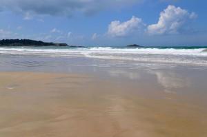 La plage de Sables d'Or les Pins et l'îlot saint-Michel