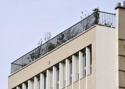Vue sur la terrasse de l'appartement de Claude François
