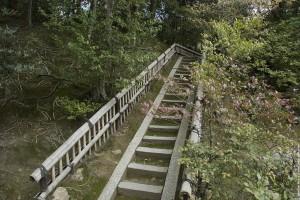 Escalier du jardin du Pavillon d'or