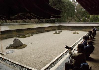 Le jardin zen du temple Ryoanji à Kyoto