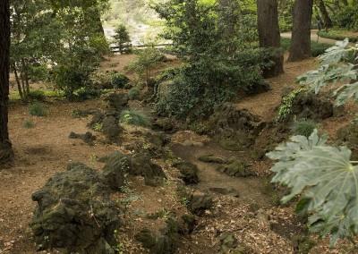 Ancienne voie d'eau dans le jardin de Shinagawa