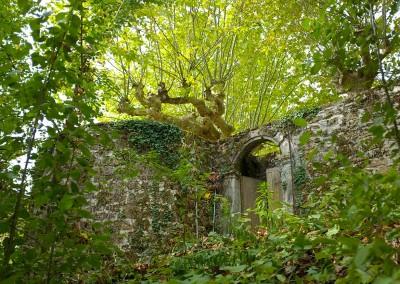 L'entrée du château de Cavagnac
