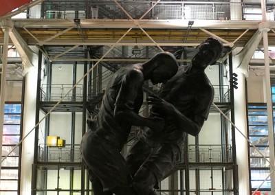 La statue du coup de boule de Zidane à Materazzi