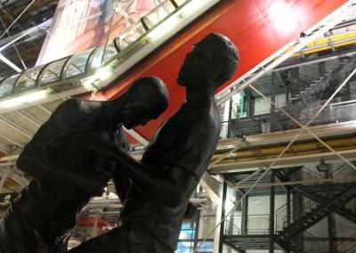 Statue en bronze de Zidane et Materazzi