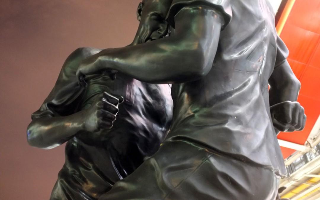 Zidane-Materazzi : la statue du coup de boule à Beaubourg