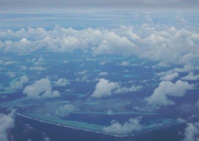 Survol des Maldives
