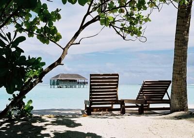 Maldives honeymoon villa et transat