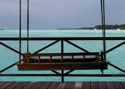 Balancelle a deux aux Maldives