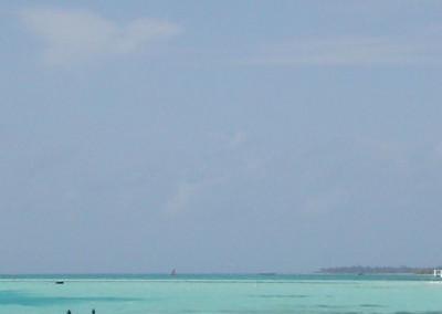 Bleu et turquoise aux Maldives