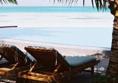 A l ombre du cocotier aux Maldives