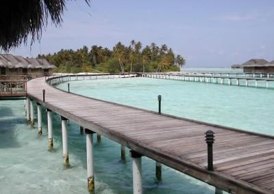 Water villa aux Maldives