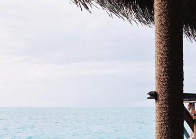 Vue sur le lagon aux Maldives