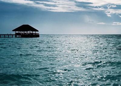 Diner au dessus de l ocean aux Maldives