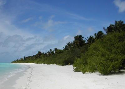 Plage deserte aux Maldives