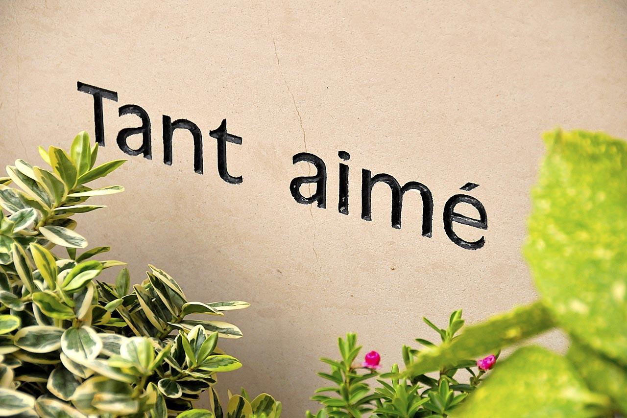 Epitaphe sur la tombe d'Alain Bashung