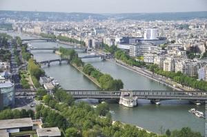 ile aux cygnes depuis la tour Eiffel