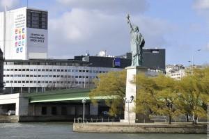 statue de la liberte au bout de l'île aux cygnes