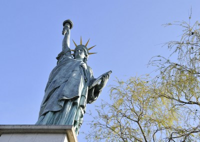 La statue de la liberte de dessous