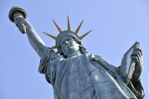 statue de la liberte de dessous