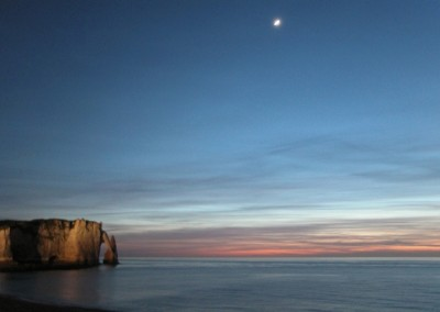 Etretat-plage by night