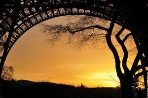 La tour Eiffel orange