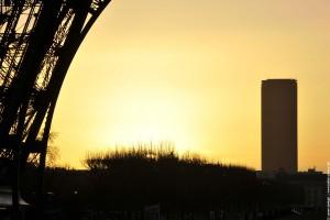 La tour Eiffel et Montparnasse