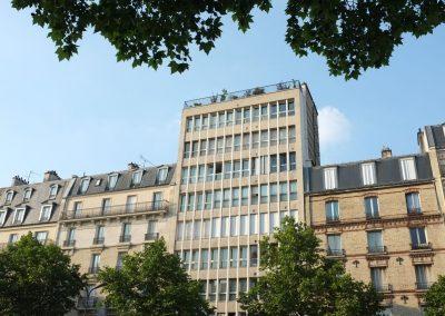 L'immeuble de l'appartement de Claude François