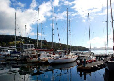 Bateaux de plaisance à Hobart, Tasmanie