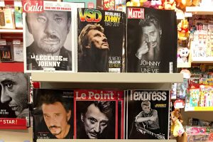 Johnny Hallyday en couverture des magazines