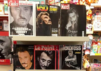 Johnny Hallyday en couverture des magazines