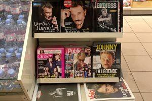 Les magazines titrent Johnny Hallyday