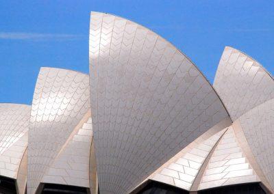 """Les """"coquillages"""" du toit de l'opéra de Sydney"""