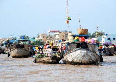 Delta du Mekong : le marché sur l'eau