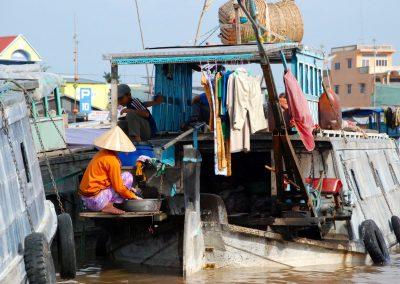 Les embarcations sur le Delta du Mekong
