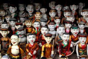 Marionnettes sur l'eau du Vietnam
