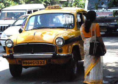Taxi Ambassador à Calcutta