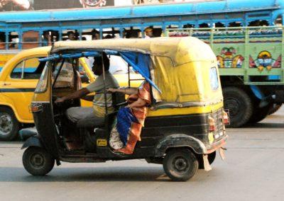 Rickshaw à Calcutta