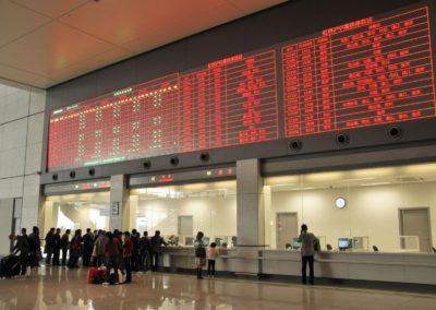 Guichets de la gare de Shanghai Hongqiao