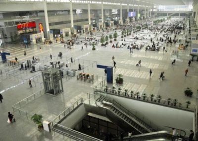 Hall de la gare de Shanghai Hongqiao