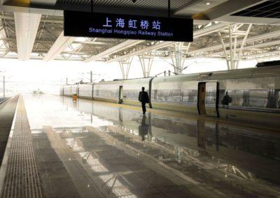 Quai de la gare de Shanghai Hongqiao