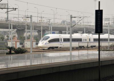 Train CRH en gare de Shanghai Hongqiao