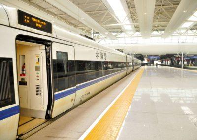 Porte de train CRH - Gare de Shanghai Hongqiao