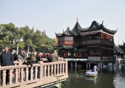 Vue sur le jardin Yuyuan à Shanghai