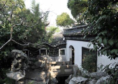 Ambiance dans le jardin Yuyuan
