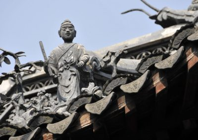Statue au jardin Yuyuan