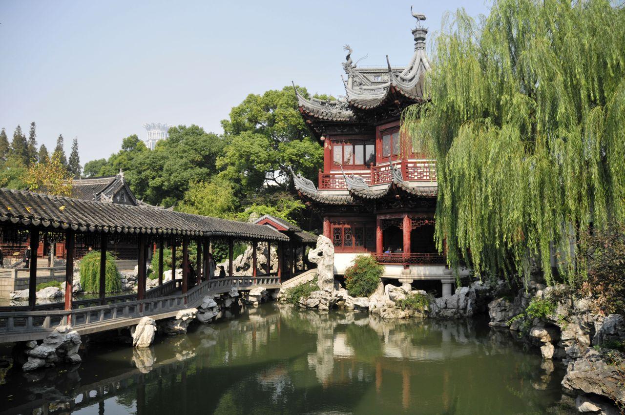 Le jardin Yuyuan dans la vieille ville de Shanghai
