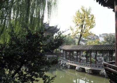 Vue depuis la maison rouge - Jardin Yuyuan (Shanghai)