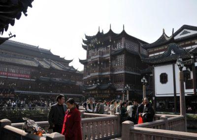 Entrée vers le jardin Yuyuan à Shanghai