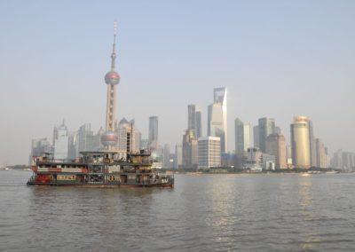 Destination Shanghai - Bateau sur la rivière Huangpu à Shanghai